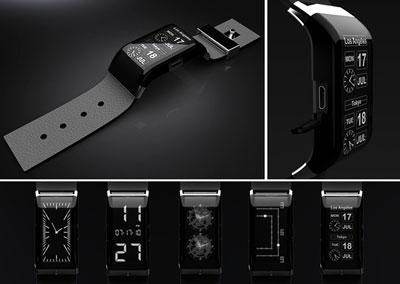 複数の盤面を持つLED腕時計「Watch oNe」