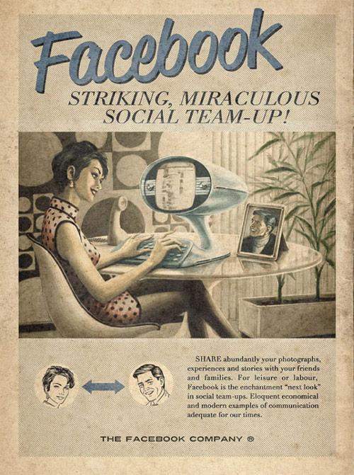ヴィンテージなFacebook広告
