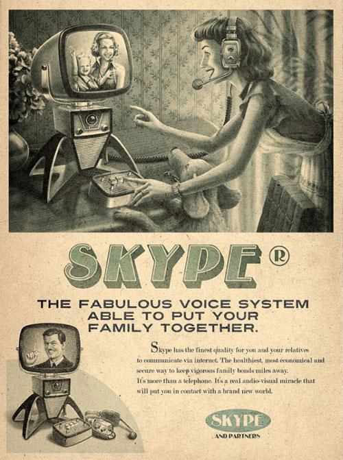 ヴィンテージなSkype広告