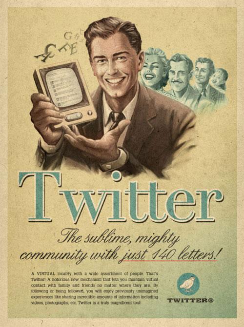 ヴィンテージなTwitter広告