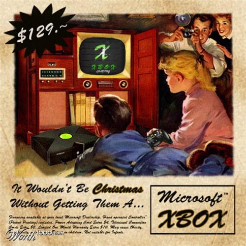 古き良き時代を感じさせるXbox広告