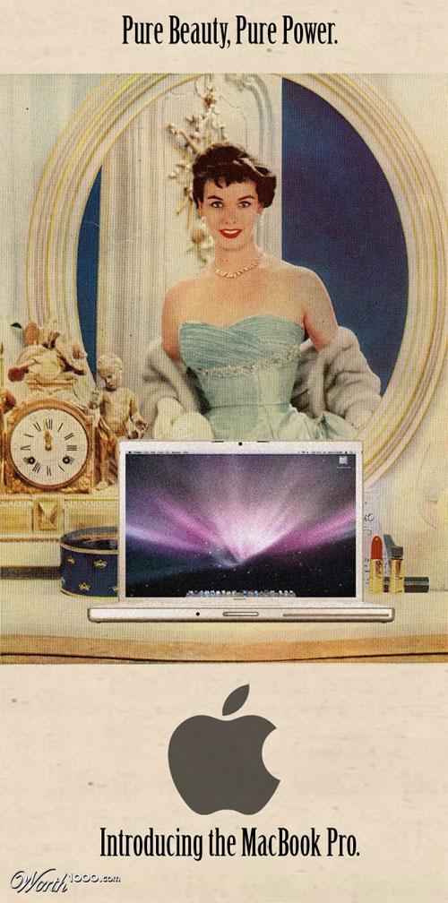 美を訴えるMacbook Pro