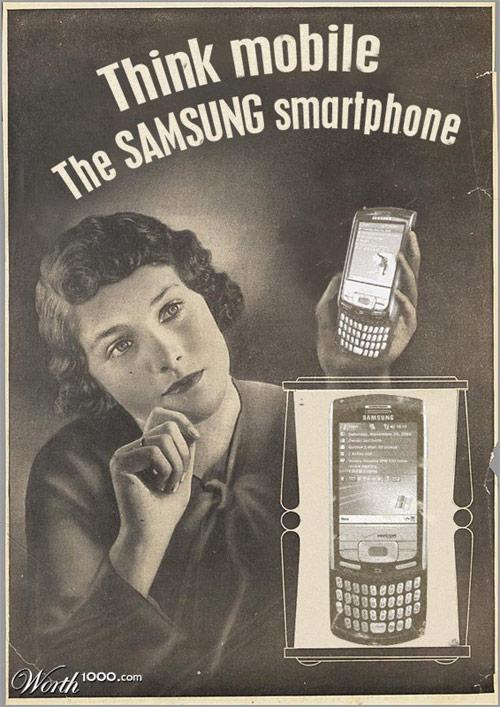 SAMSUNGのスマートフォン広告