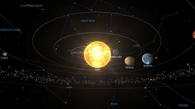太陽系の惑星&星座を3Dで見れる「SOLAR SYSTEM SCOPE」