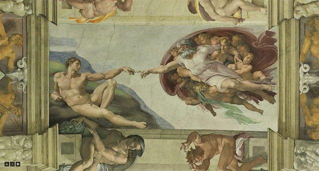 システィーナ礼拝堂のアダムの創造