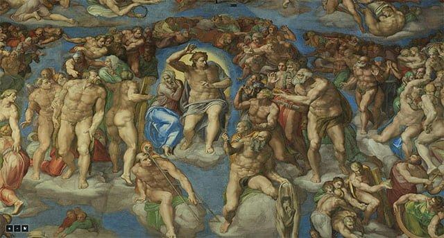 システィーナ礼拝堂の最後の審判
