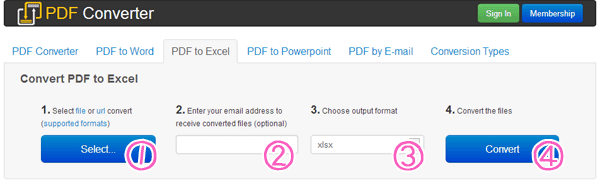 PDFをエクセルに無料変換してくるPDF Converter