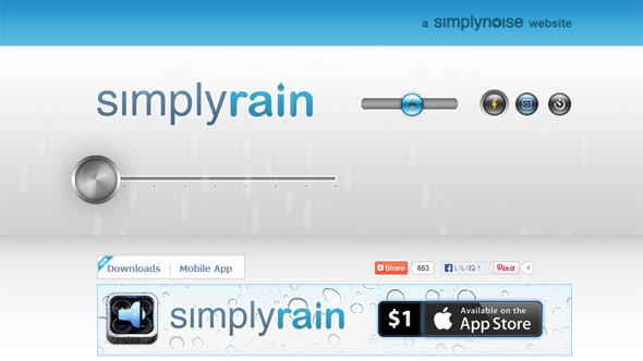 雨音の強弱が自動で動作するSimplyRain