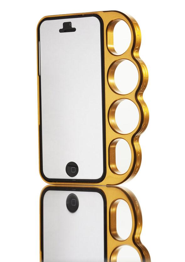 海外セレブ愛用メリケンサック型のiPhoneケースKnucklecase Polished Gold