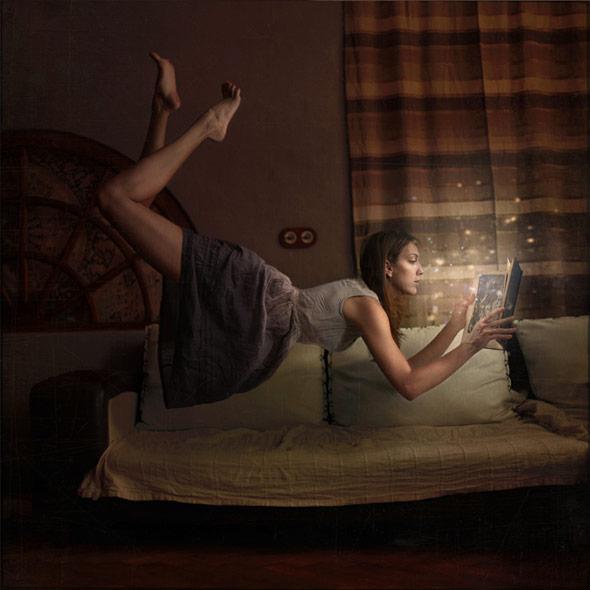 幻想的なイメージを感じさせてくれる浮遊写真