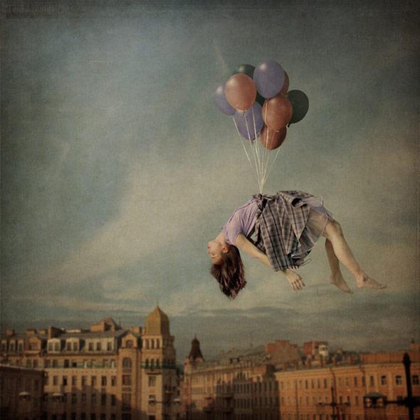 風船と浮遊、相性の良い縁