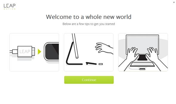 USBケーブルを接続して「Continue」をクリック