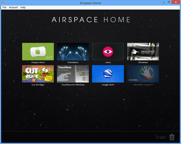 AirSpace Home画面