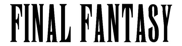 ファイナル・ファンタジーフォント「Final Fantasy font」