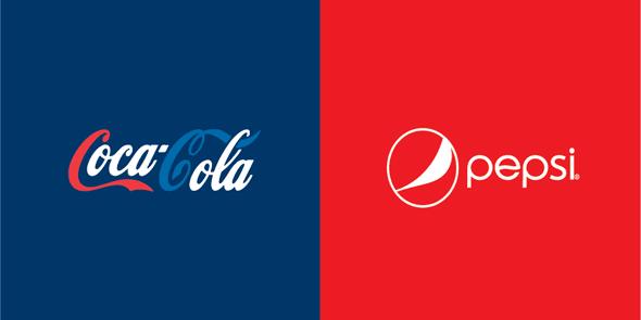コカ・コーラとペプシのロゴカラーを入れ替えてみたら