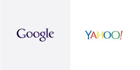 GoogleとYahooのロゴカラーを入れ替えてみたら