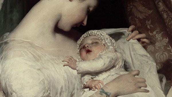 ジェームズ・サント「妻エリザベスと娘」