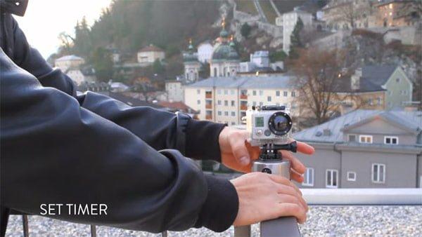 GoProとエッグタイマーによるタイムラプス
