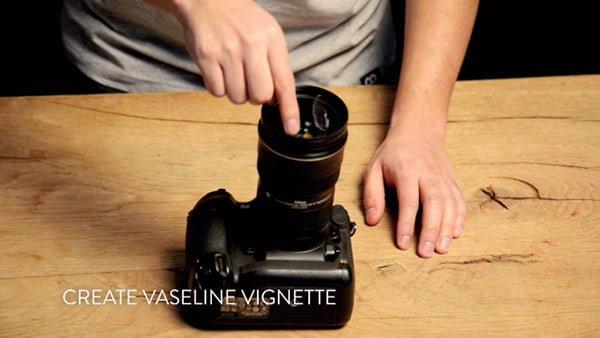 ヴァセリンをレンズフィルターに塗る