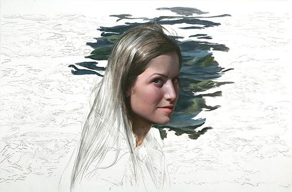描き途中の油絵