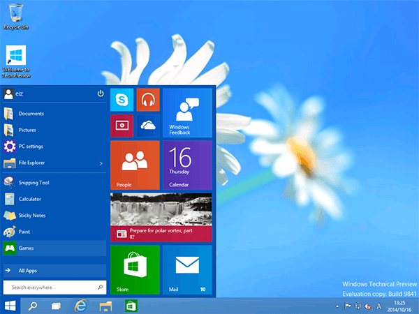 Windows10の画面
