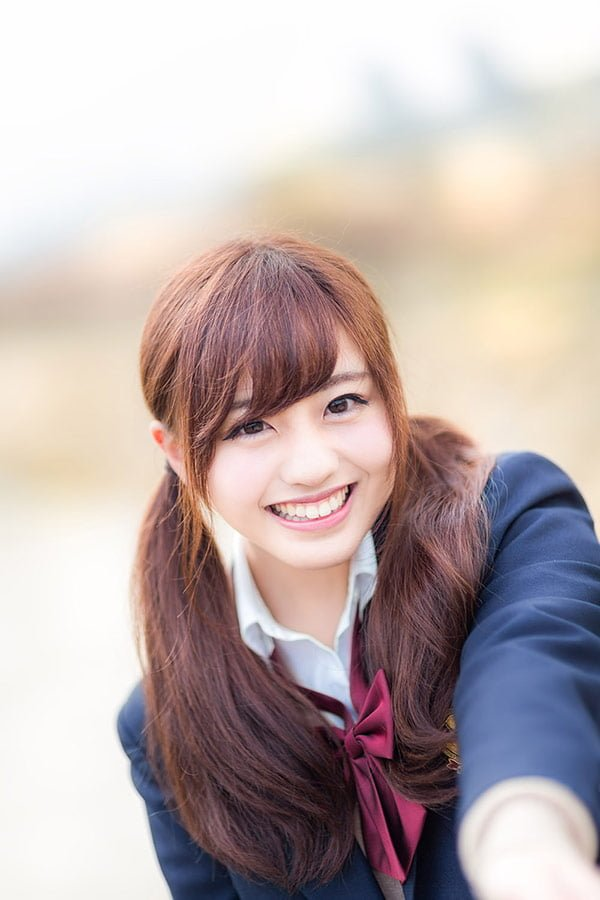 女子高校生の笑顔素材