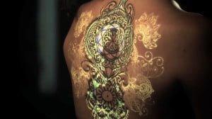 タトゥーをプロジェクションマッピングしたInk Mapping
