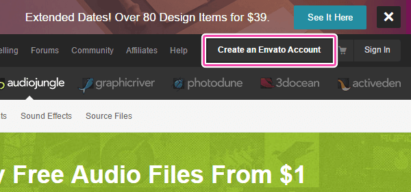 Create an Envato Account