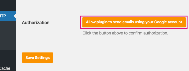 Allow Plugin to send emails using your Google account