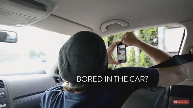 車の中からiPhoneで写真撮影
