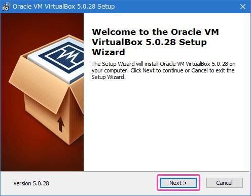 VM VirtualBoxをインストール
