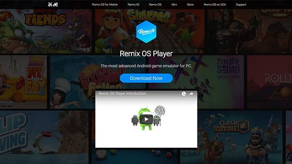 androidエミュレータremix os player