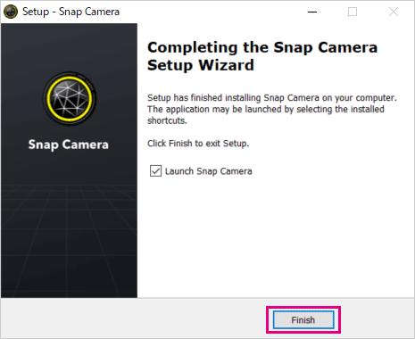 Widnwos用Snap Cameraのインストール完了