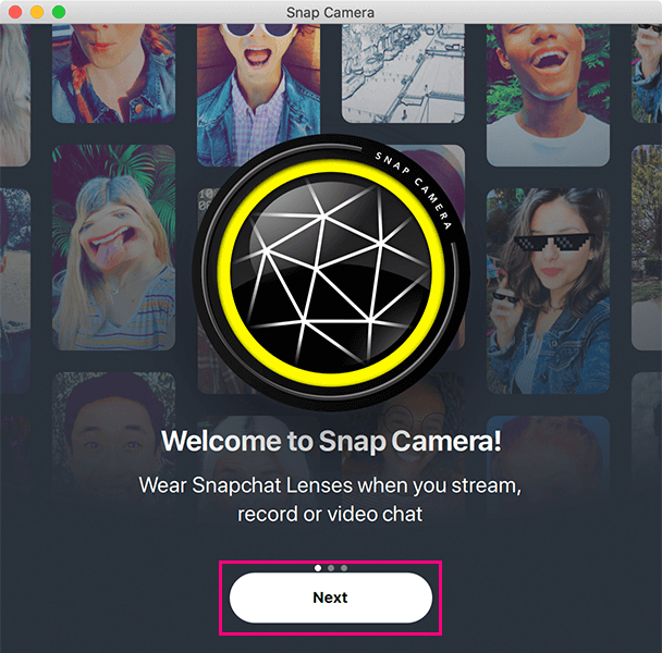 Snap Cameraの案内1