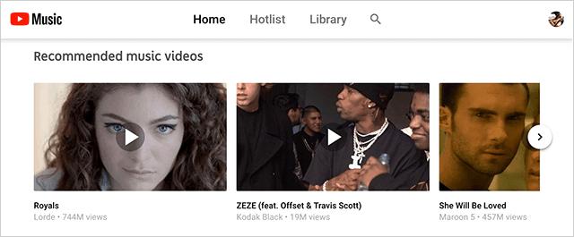 YouTube Musicのテーマを変更