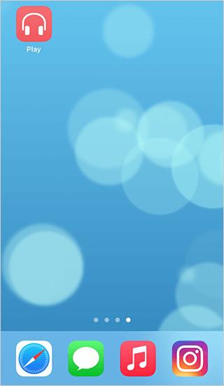 ホーム画面に追加されたApple Musicオフラインショートカット