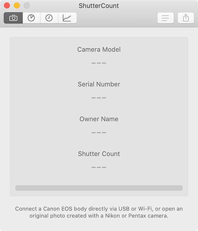 Macでカメラのシャッター回数を調べる方法